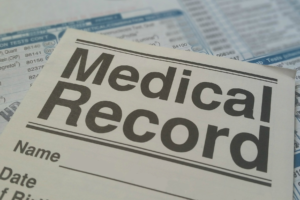 Medical Record title on paper